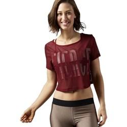 Oblačila Ženske Majice s kratkimi rokavi Reebok Sport Cardio Mesh Tee Bordo rdeča
