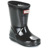 Čevlji  Otroci škornji za dež  Hunter KIDS FIRST CLASSIC GLOSS Črna