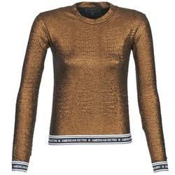 Oblačila Ženske Majice z dolgimi rokavi American Retro ALLAN Pozlačena