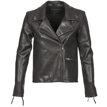 Oblačila Ženske Usnjene jakne & Sintetične jakne American Retro LEON JCKT Črna