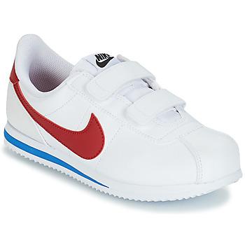 Čevlji  Dečki Nizke superge Nike CORTEZ BASIC PRE-SCHOOL Bela / Modra / Rdeča