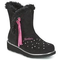 Čevlji  Deklice Škornji za sneg Skechers SPARKLES Črna / Rožnata