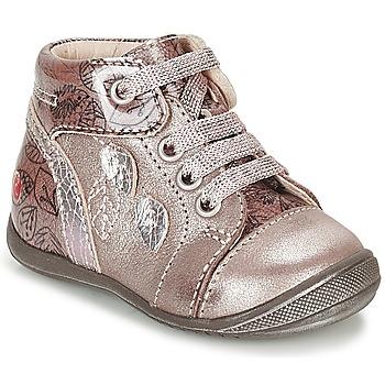 Čevlji  Deklice Visoke superge GBB ROSEMARIE Rožnata