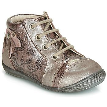 Čevlji  Deklice Visoke superge GBB NICOLE Rožnata / Zlata