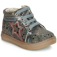 Čevlji  Deklice Visoke superge GBB NAVETTE Siva / Rožnata