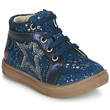 Čevlji  Deklice Visoke superge GBB NAVETTE Vte / Mornarsko modra-pike / Dpf / Dolby