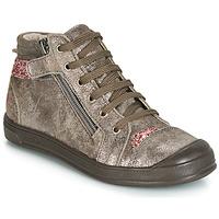 Čevlji  Deklice Visoke superge GBB DESTINY Taupe / Rožnata