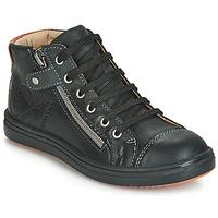 Čevlji  Dečki Visoke superge GBB NICO Črna