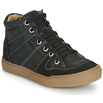 Čevlji  Dečki Visoke superge GBB NEMOON Črna