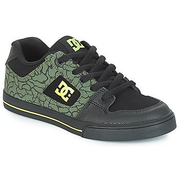 Čevlji  Otroci Nizke superge DC Shoes PURE SE B SHOE BK9 Črna / Zelena