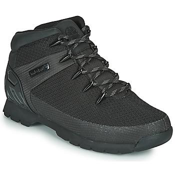 Čevlji  Moški Polškornji Timberland Euro Sprint Fabric WP Črna