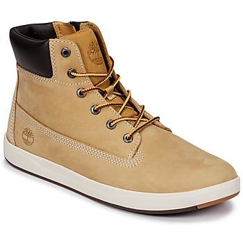 Čevlji  Otroci Visoke superge Timberland Davis Square 6 Inch Boot Kostanjeva