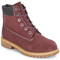 Čevlji  Otroci Polškornji Timberland 7 In Premium WP Boot Bordo