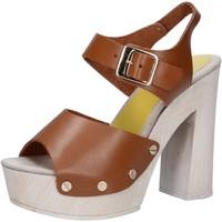 Čevlji  Ženske Sandali & Odprti čevlji Suky Brand sandali marrone pelle AC482 Marrone