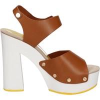 Čevlji  Ženske Sandali & Odprti čevlji Suky Brand sandali marrone pelle AC483 Marrone