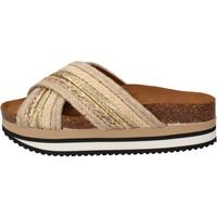 Čevlji  Ženske Natikači 5 Pro Ject Sandale AC586 Bež