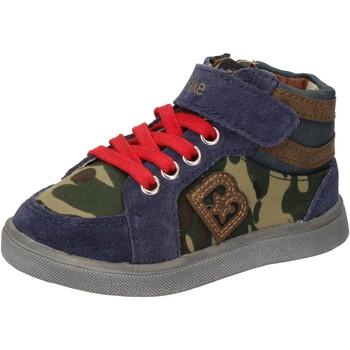 Čevlji  Dečki Visoke superge Blaike sneakers blu camoscio verde pelle AD769 Multicolore