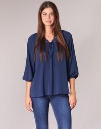 Oblačila Ženske Topi & Bluze MICHAEL Michael Kors SCALLP GRMT CHAIN TOP Modra