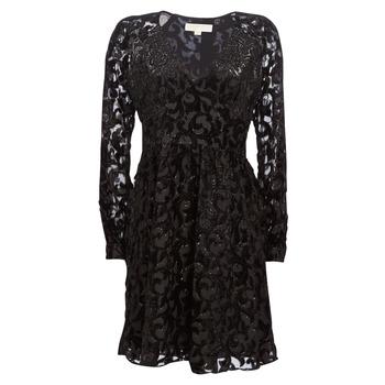 Oblačila Ženske Kratke obleke MICHAEL Michael Kors RAGLAN SLV SHORT DRS Črna
