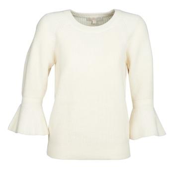 Oblačila Ženske Puloverji MICHAEL Michael Kors SHAKER ROUND SLV Bela