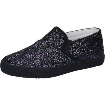 Čevlji  Deklice Slips on Date AD836 Črna