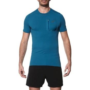 Oblačila Moški Majice s kratkimi rokavi Asics Elite SS Top Modra