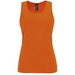 Oblačila Ženske Majice brez rokavov Sols SPORT TT WOMEN Naranja
