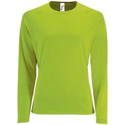 Oblačila Ženske Majice z dolgimi rokavi Sols SPORT LSL WOMEN Verde