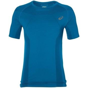 Oblačila Moški Majice s kratkimi rokavi Asics Tech Tee Modra