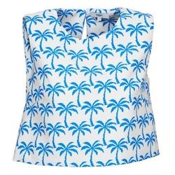 Oblačila Ženske Majice brez rokavov Suncoo LANA Bela / Modra