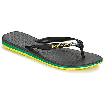 Čevlji  Moški Japonke Havaianas Brasil Layers Črna