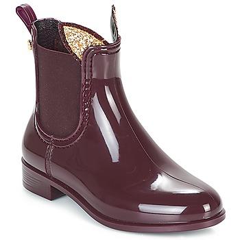 Čevlji  Deklice škornji za dež  Lemon Jelly FAWN Bordo