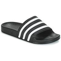 Čevlji  Nizke superge adidas Originals ADILETTE Črna / Bela