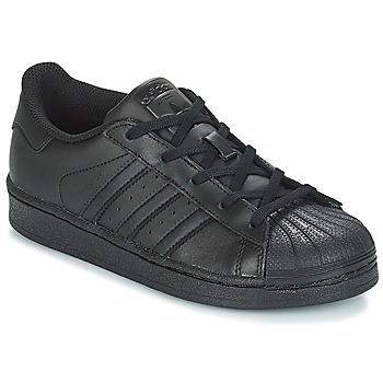 Čevlji  Otroci Nizke superge adidas Originals SUPERSTAR C Črna