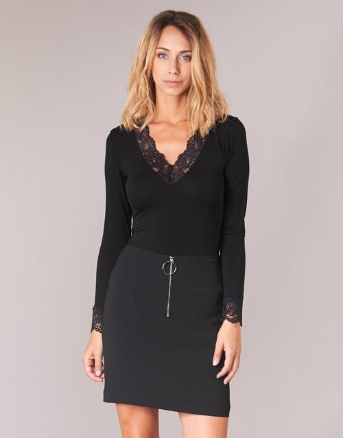 Oblačila Ženske Majice z dolgimi rokavi Morgan TRACY Črna