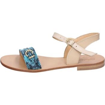 Čevlji  Ženske Sandali & Odprti čevlji Calpierre sandali verde pelle marrone BZ837 Multicolore
