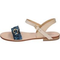 Čevlji  Ženske Sandali & Odprti čevlji Calpierre sandali blu pelle BZ838 Blu