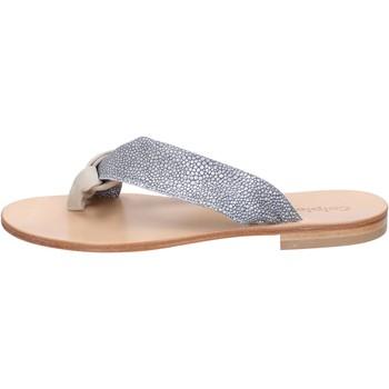 Čevlji  Ženske Sandali & Odprti čevlji Calpierre sandali grigio camoscio beige tessuto BZ880 Multicolore