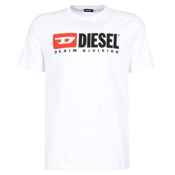 Oblačila Moški Majice s kratkimi rokavi Diesel T JUST DIVISION Bela