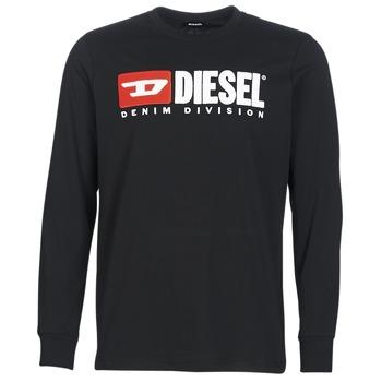 Oblačila Moški Majice z dolgimi rokavi Diesel T JUST LS DIVISION Črna