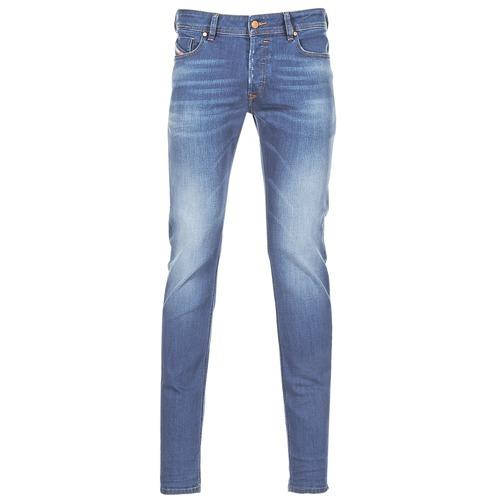 Oblačila Moški Jeans skinny Diesel SLEENKER Modra / 084yk