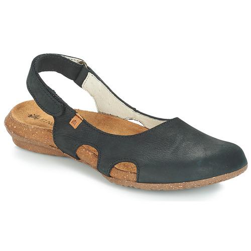 Čevlji  Ženske Sandali & Odprti čevlji El Naturalista WAKATAUA Črna