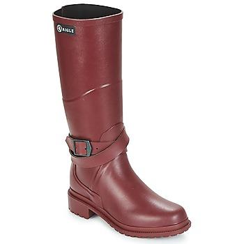 Čevlji  Ženske škornji za dež  Aigle MACADAMES Bordo