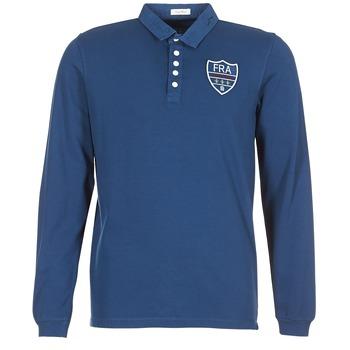 Oblačila Moški Polo majice dolgi rokavi Serge Blanco POLO France Modra