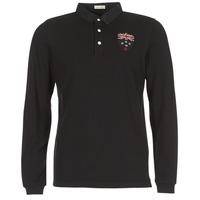 Oblačila Moški Polo majice dolgi rokavi Serge Blanco POLO NEW ZEALAND Črna