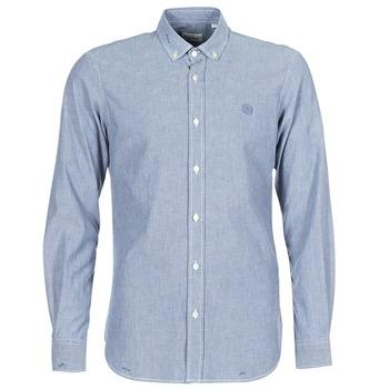 Oblačila Moški Srajce z dolgimi rokavi Serge Blanco 15 DOS Modra