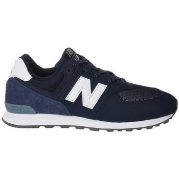 Čevlji  Otroci Nizke superge New Balance GC574D4 Bela,Mornarsko modra