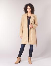 Oblačila Ženske Plašči Vila VILUS Kamel