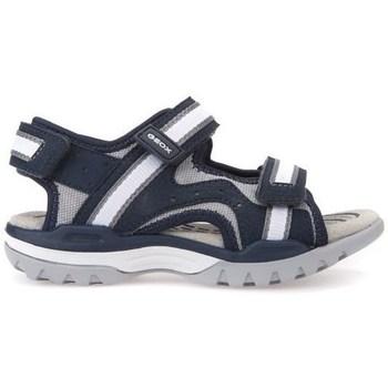 Čevlji  Otroci Sandali & Odprti čevlji Geox J Borealis Boy Navygrey Črna