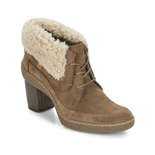 Čevlji  Ženske Gležnjarji El Naturalista LICHEN Kaki